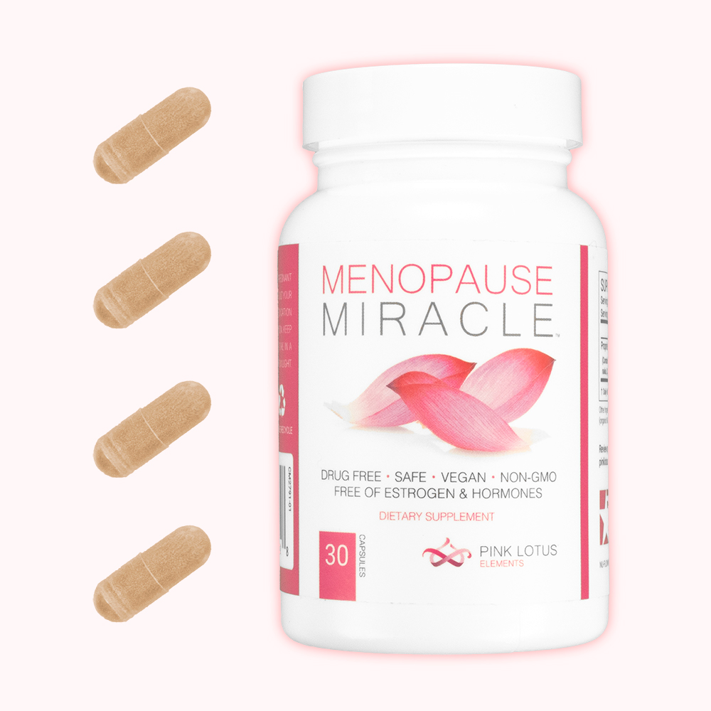 menopause miracle with capsules front view