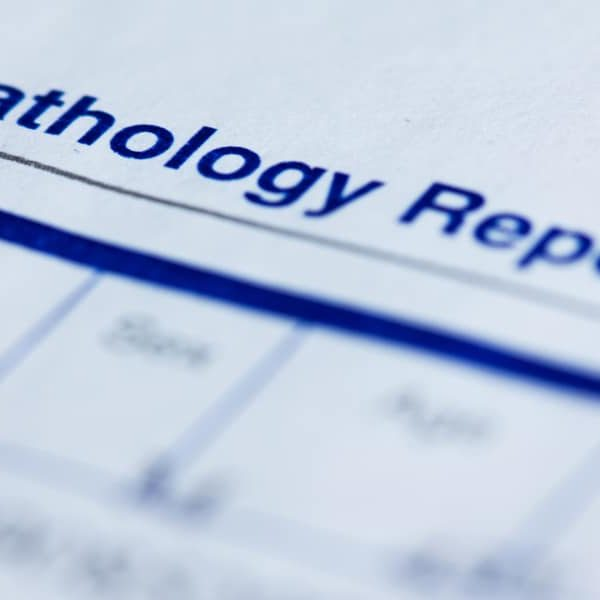 header of a pathology report