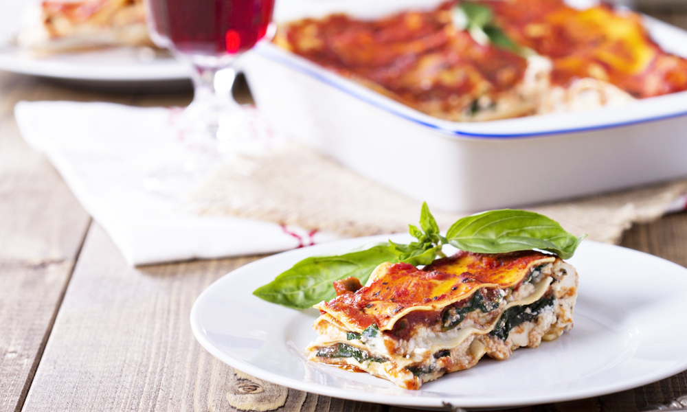 cancer kicking kitchen dreamy lasagna dish